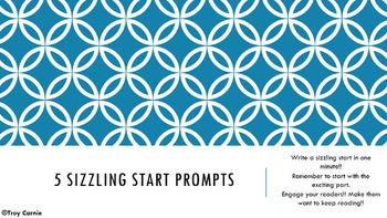 5 Sizzling Start Prompts - Creative Writing Story Prompts
