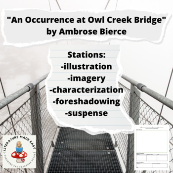 "5 Skills Stations for ""An Occurrence at Owl Creek Bridge"" - activities"