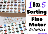 5 Sorting Drop Box Activities - All using the SAME BOX!