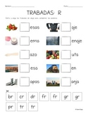 """5 Spanish """"Pick the Blend/Sound/Missing Syllable"""" Cut and Paste Worksheets"""