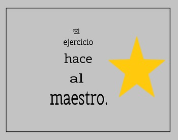 5 Spanish Proverbs Posters