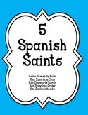 5 Spanish Saints-Coloring Pgs-Summary-Webquests-Websites-Questions-Printable