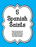 5 Spanish Saints-Coloring Pgs-Summary-Webquests-Websites-Q