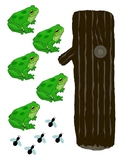 5 Speckled Frogs Printable/ Cut out Manipulatives