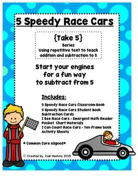 Subtraction: 5 Speedy Race Cars
