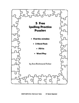 5 Spelling Practice Puzzlers