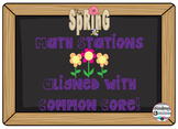5 Spring Math Stations-Common Core