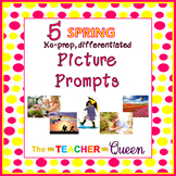 5 Spring No-prep, Differentiated Picture Prompts for Writing
