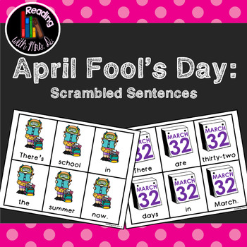 5 Spring Scrambled Sentences for April Fool's Day PLUS rec