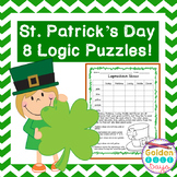 St. Patrick's Day Logic Puzzles for Beginners Critical Thinking!~ Gr 2, 3 & 4
