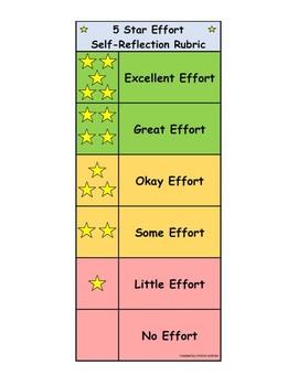 5 Star Effort Rubric