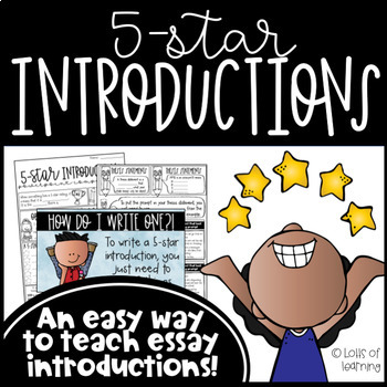 5-Star Introductions: An Easy Way to Teach Essay Introductions