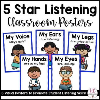 5 Star Listening Classroom Posters