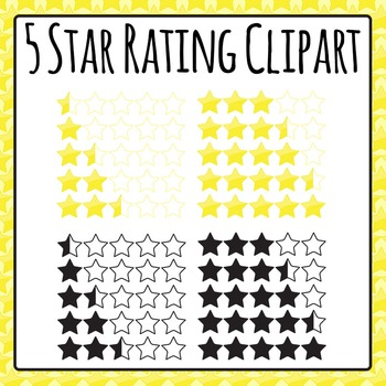 5 Star Rating System Clip Art Pack for Commercial Use