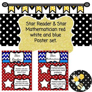 5 Star Reader and Mathematician Poster Set
