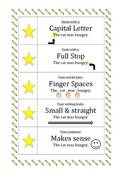 5 Star Sentence Checklist