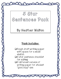 5 Star Sentences Pack