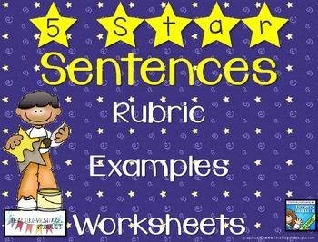 5 Star Sentences Rubric