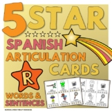 5 Star Spanish Articulation Cards - R in Words and Sentences