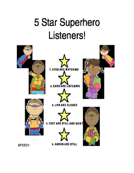 5 Star Superhero Listeners