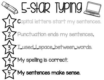 5 Star Typing Visual