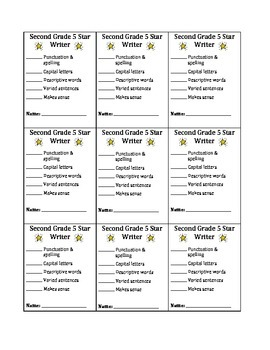 5 Star Writer Checklist