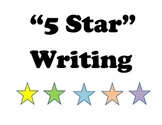 5 Star Writing Conventions Poster