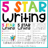 5 Star Writing (Editable Poster, Checklists, and Writing Pages)