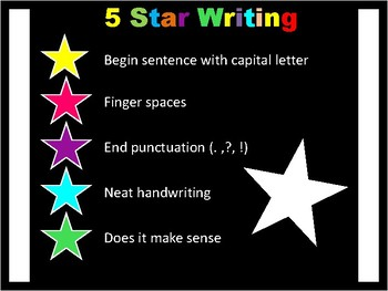 5 Star Writing Poster
