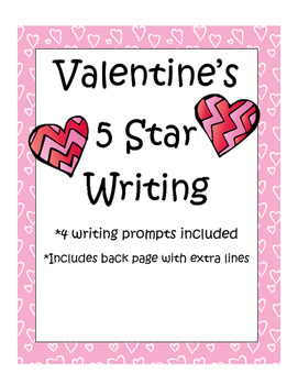 5 Star Writing- Valentine Prompts