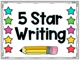 5 Star Writing in Kindergarten