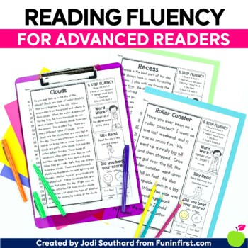 Reading Fluency {For Advanced Readers} - Distance Learning