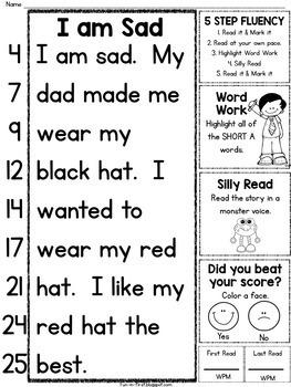 5 Step Fluency for Beginning Readers