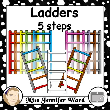 5 Step Ladder Clipart