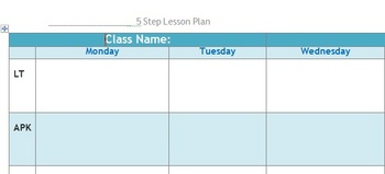 5-Step Lesson Plan Template