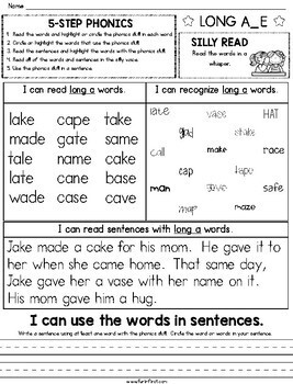 5-Step Phonics - Distance Learning