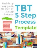 5 Step Process Form for TBT (Teacher Based Teams) - Template {Editable}