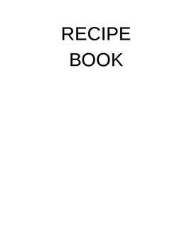 5 Step Recipe Template
