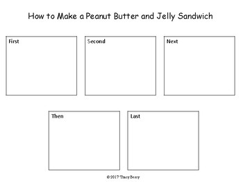 5 Step Sequence Card Activity: How to Make a Peanut Butter and Jelly Sandwich