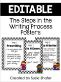 Steps in the Writing Process Posters (UPDATED and EDITABLE)
