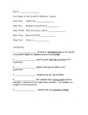 5 Steps of the Scientific Method Review Quiz