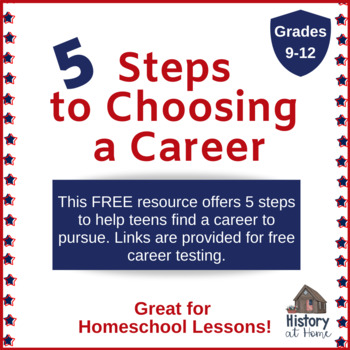 Choosing a Career for 9-12th Grades and Homeschool  **Free Guide