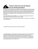 5 Steps to Writing a Resume Worksheet