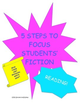 5 Steps to focus Students' Fiction Reading