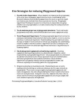 5 Strategies for Reducing Playground Injuries