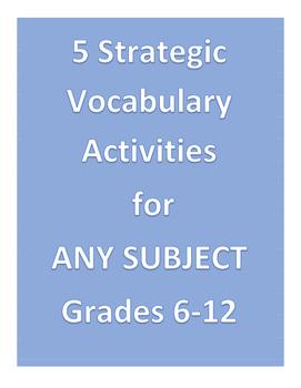5 Strategic Vocabulary Activities for ANY SUBJECT