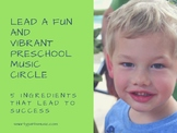 5 Strategies to Lead a Successful Preschool Music Circle
