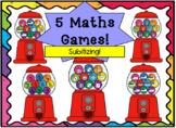5 Subitizing Maths Games - Gumballs!