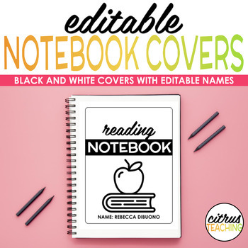 5 Subject Notebook Covers