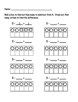 5 Subtraction Roll